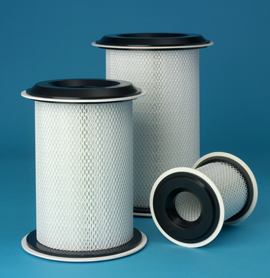 Cylindrical Hepa Filters Plug In Push Through In Line